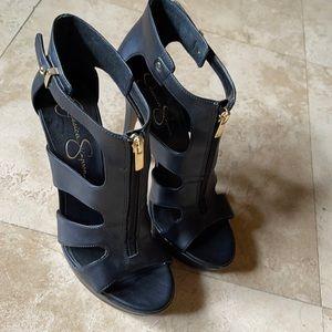 Jessica Simpson JP-BOEH black heels sandals